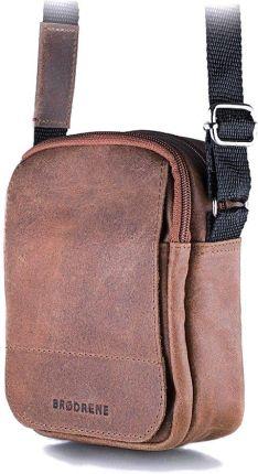 1a8e322b84c0a Jasno brązowa listonoszka męska torba na ramię brodrene bl04