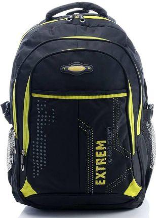 bb180a7a79947 Pojemny plecak sportowy z kieszonką na laptopa bag street czarno żółty