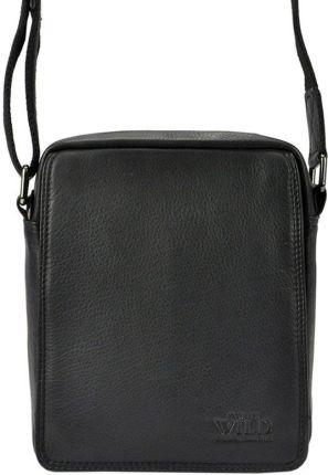 31c098ebac405 Męska torba na ramię ze skóry naturalnej baleine s1 czarna (390900 ...