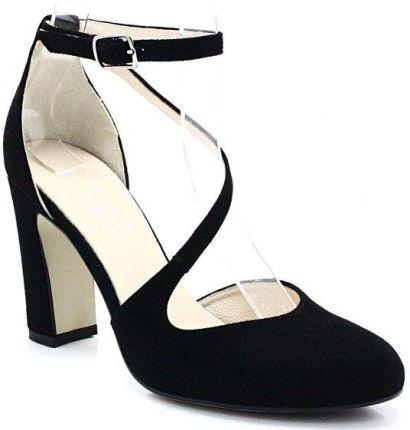 Piękne sandałki na koturnie LL 56 BLACK Ceny i opinie