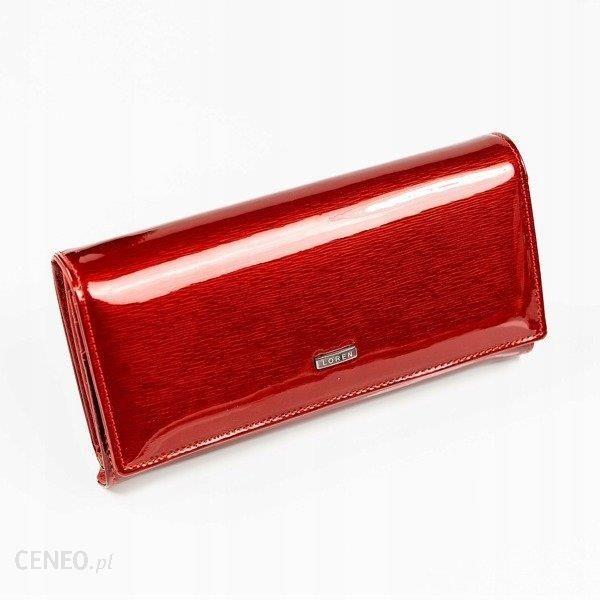 37080a57df0f7 Skórzany lakierowany portfel damski czerwony Loren 102-SH - Czerwony -  zdjęcie 1