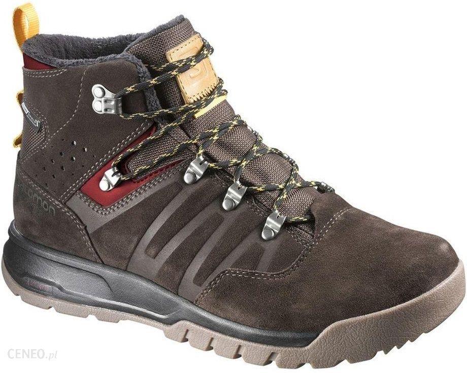 Zielone buty zimowe Salomon