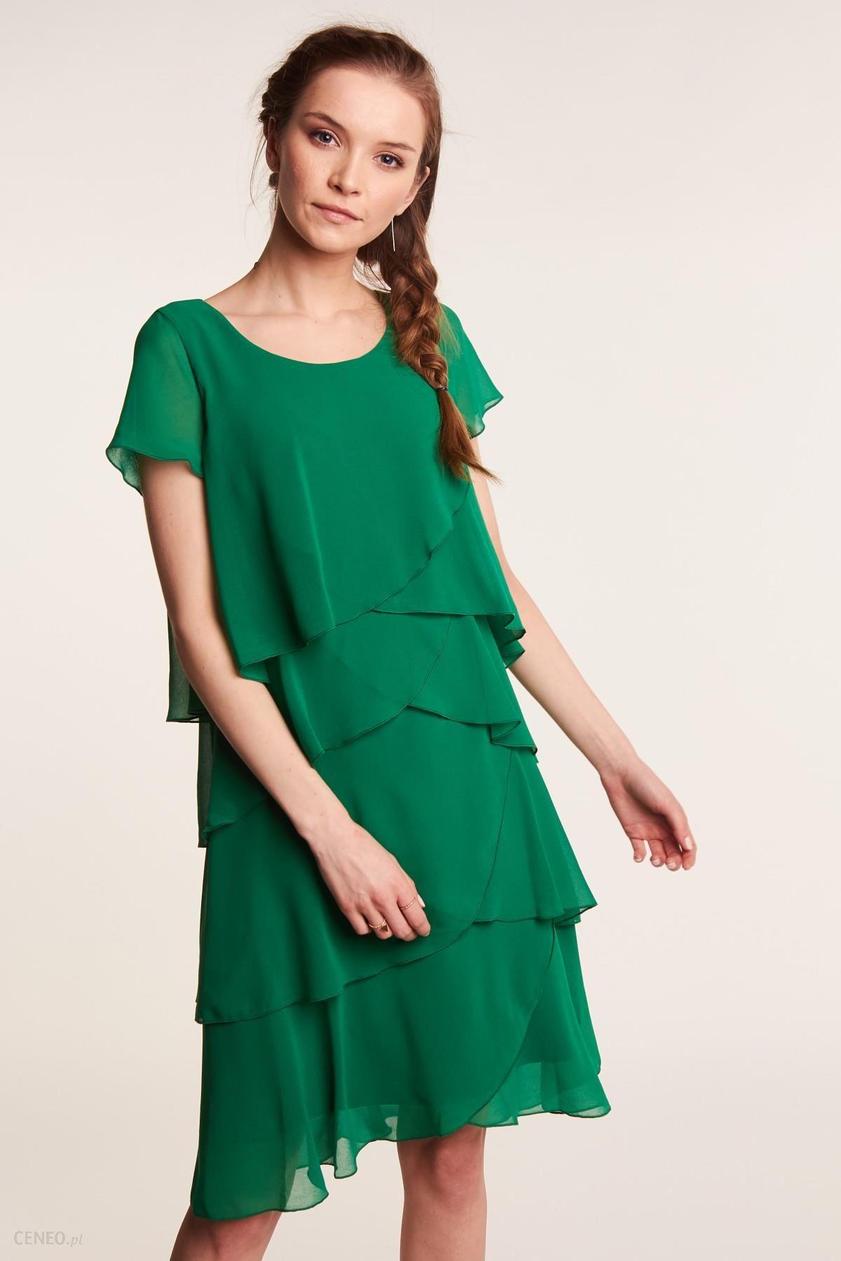 d12cbce735 Zielona sukienka z falbankami - Ceny i opinie - Ceneo.pl