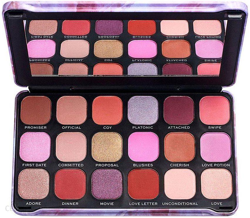 Makeup Revolution Forever Flawless Unconditional Love Paleta 18 Cieni