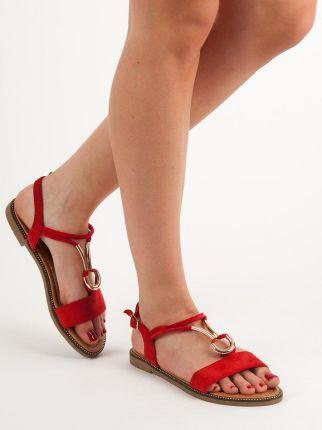 Brązowe eleganckie sandały na słupku LA 106