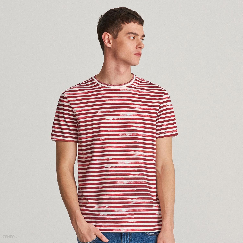 0527dad138b1b Reserved - T-shirt w paski - Biały - Ceny i opinie - Ceneo.pl