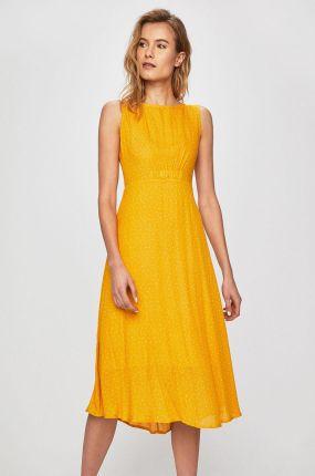 8c1a9ea09f Letnia asymetryczna sukienka z lejącej dzianiny niebieska T137 ...