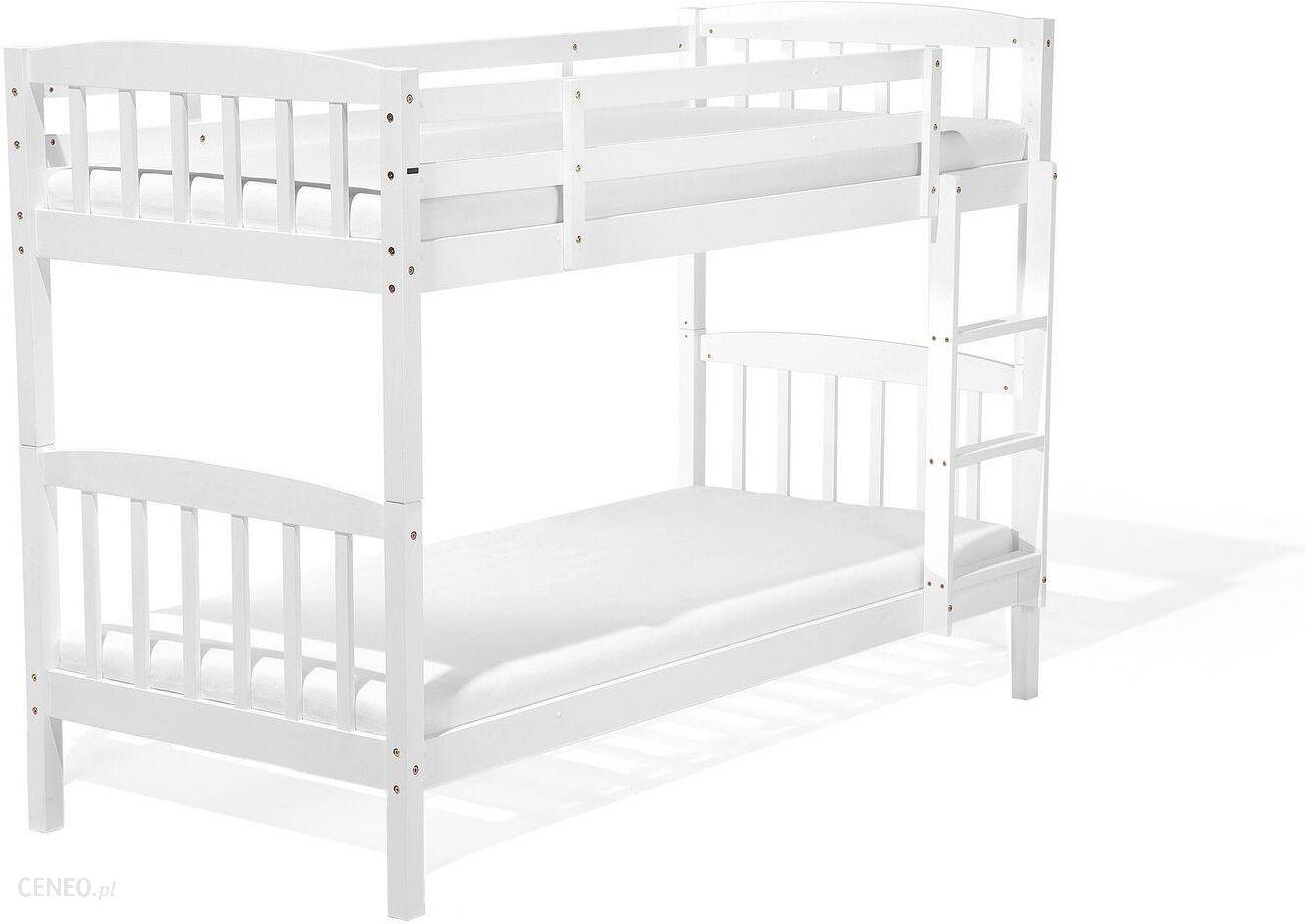 Beliani łóżko Piętrowe Drewniane Białe 90x200 Cm Revin Ceny I Opinie Ceneopl