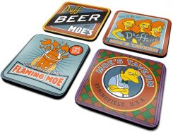 The Simpsons (Moes Tavern) 4 Coaster Set