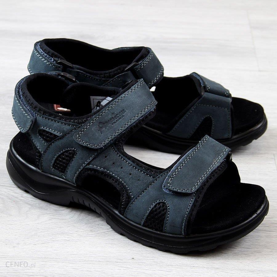 Granatowe buty sportowe męskie na rzep American Club granatowy Ceny i opinie Ceneo.pl