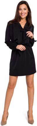 afb4f9ee02 BE Sukienka swetrowa – dzianinowa asymetryczna midi czarna BK006 ...
