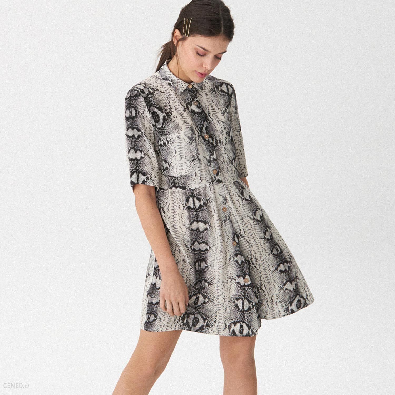 609f824920 House - Sukienka o koszulowym kroju - Beżowy - Ceny i opinie - Ceneo.pl