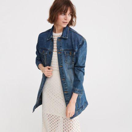 6fb44898e225e Reserved - Długa kurtka jeansowa - Niebieski
