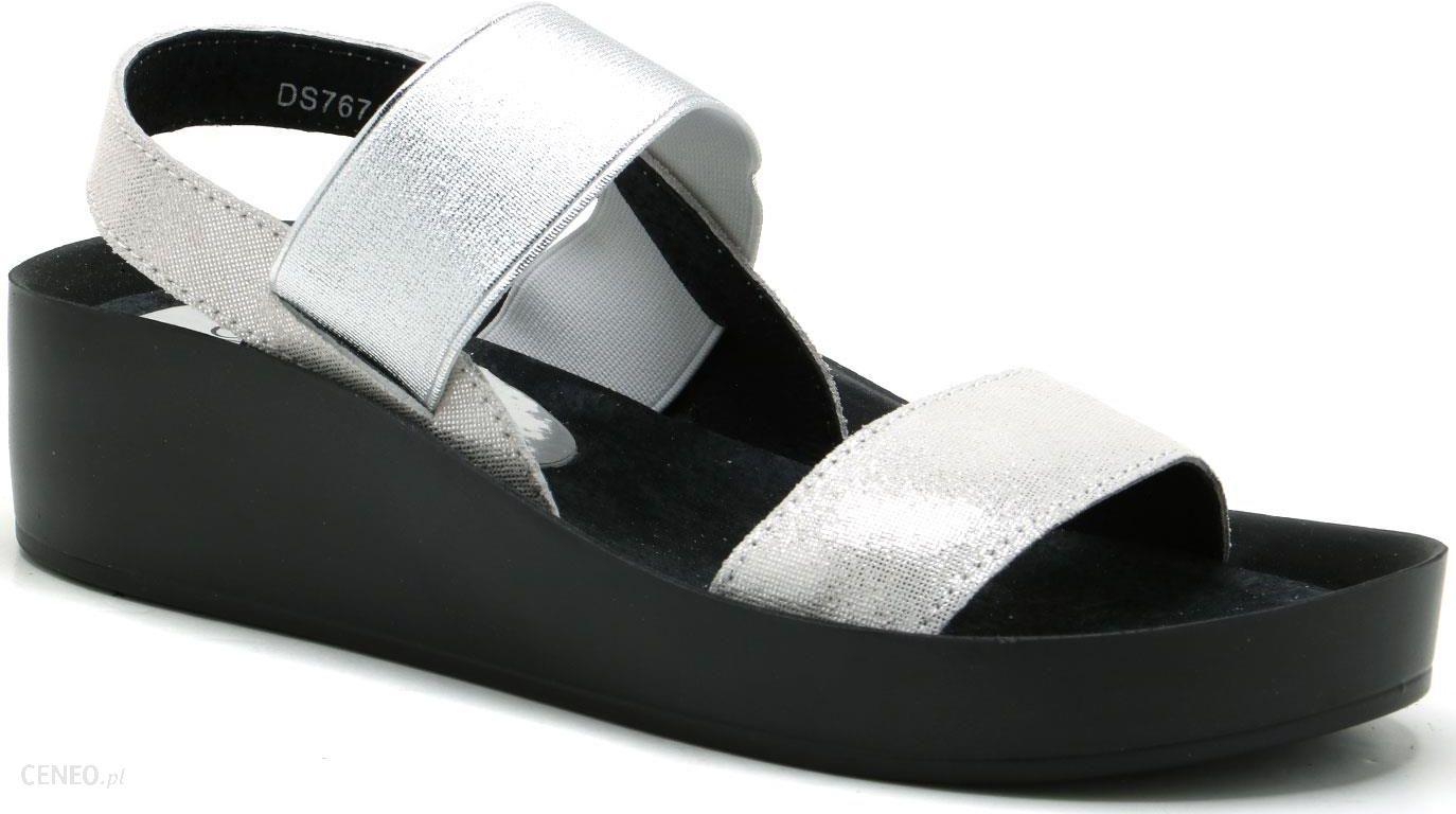 Czarne skórzane sandały damskie FILIPPO DS767