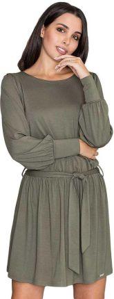 0849cc479c Asymetryczna bawełniana sukienka na co dzień szara M291 - Ceny i ...