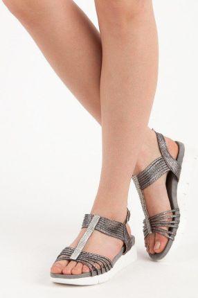 Juliet Różowe sandały płaskie rozmiar 41