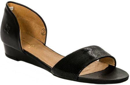 00b356363b4bb0 Podobne produkty do Czarne sandały skórzane na słupku Oleksy 2295/320/000/ 000/000
