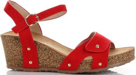 c4d0f42f91204 Sandały Damskie na koturnie renomowanej marki Lady Glory Czerwone (kolory)  ...