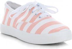 91ce62c40583b Designerskie Buty Damskie Tenisówki w paski renomowanej marki Marquiz  Różowe (kolory) ...