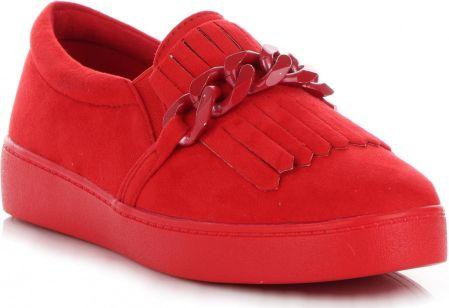 c429cfb9e000f Stylowe Buty Damskie Mokasyny z frędzlami marki Lady Glory Czerwone  (kolory) ...