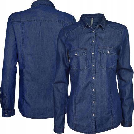 f0818fac8 Reserved Damska Taliowana Jeansowa Koszula Xs 34 Allegro