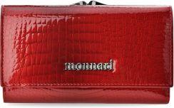 f20cebc69eeea Lakierowany portfel damski monnari skórzana portmonetka na bigiel wężowy  wzór - czerwony