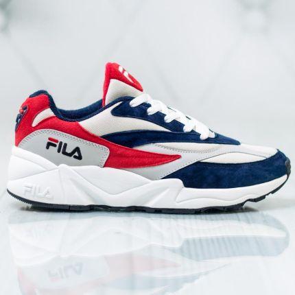 Granatowo czerwono białe sneakersy męskie Fila Ceny i