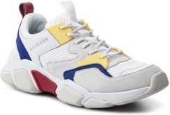 3d5e8b81146a1 Sneakersy TOMMY HILFIGER - Chunky Material Mix Trainer FM0FM02281 White 100  eobuwie