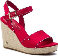 d3ee799aa8de8 Espadryle TOMMY HILFIGER - Corporate Detail High Wedge FW0FW04174 Tango Red  eobuwie