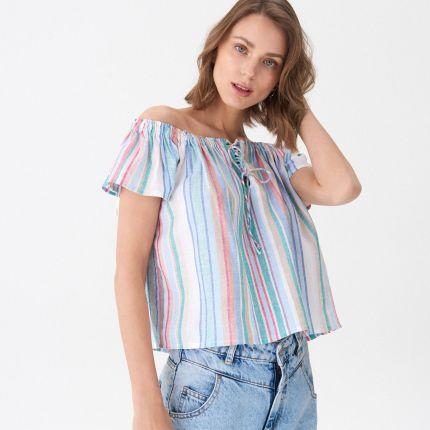 Bluzki i koszulki damskie House Z odkrytymi ramionami