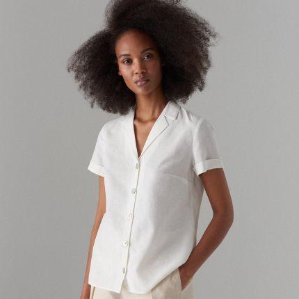 8160db276 Mohito - Koszula z krótkimi rękawami - Biały Mohito
