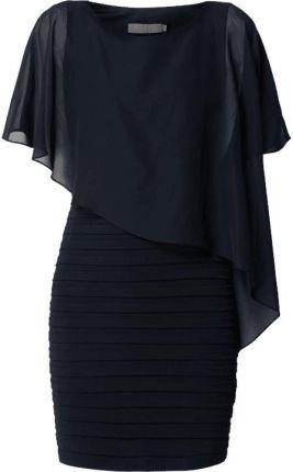 190f095f7f Sukienka koktajlowa z szyfonowym obszyciem ...