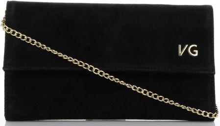 b55977e9ba435 Firmowe Kopertówki Skórzane Vittoria Gotti Eleganckie Listonoszki na  łańcuszku Made in Italy Czarna (kolory)