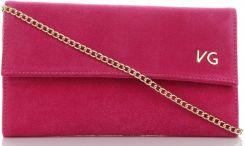 f36611e4062a1 Eleganckie Torebki Skórzane Kopertówki wykonane z wysokiej jakości zamszu  naturalnego marki Vittoria Gotti Fuksjowe (kolory