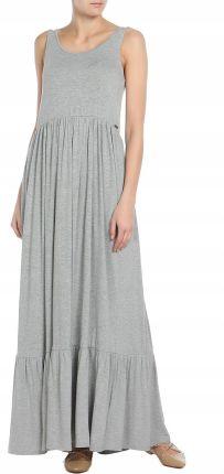18e88bfb86 Pepe Jeans Szara melanżowa maxi sukienka (s) Allegro