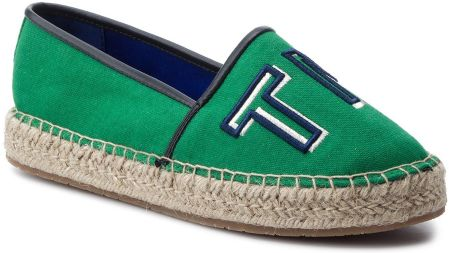 14ee2b01a19e6 Espadryle TOMMY HILFIGER - Colorful Tommy Flat Espadrille FW0FW04166 Jelly  Bean 321 eobuwie