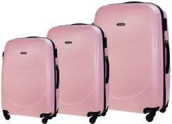 566933a8516ba Zestaw walizek podróżnych STL856 różowy - różowy