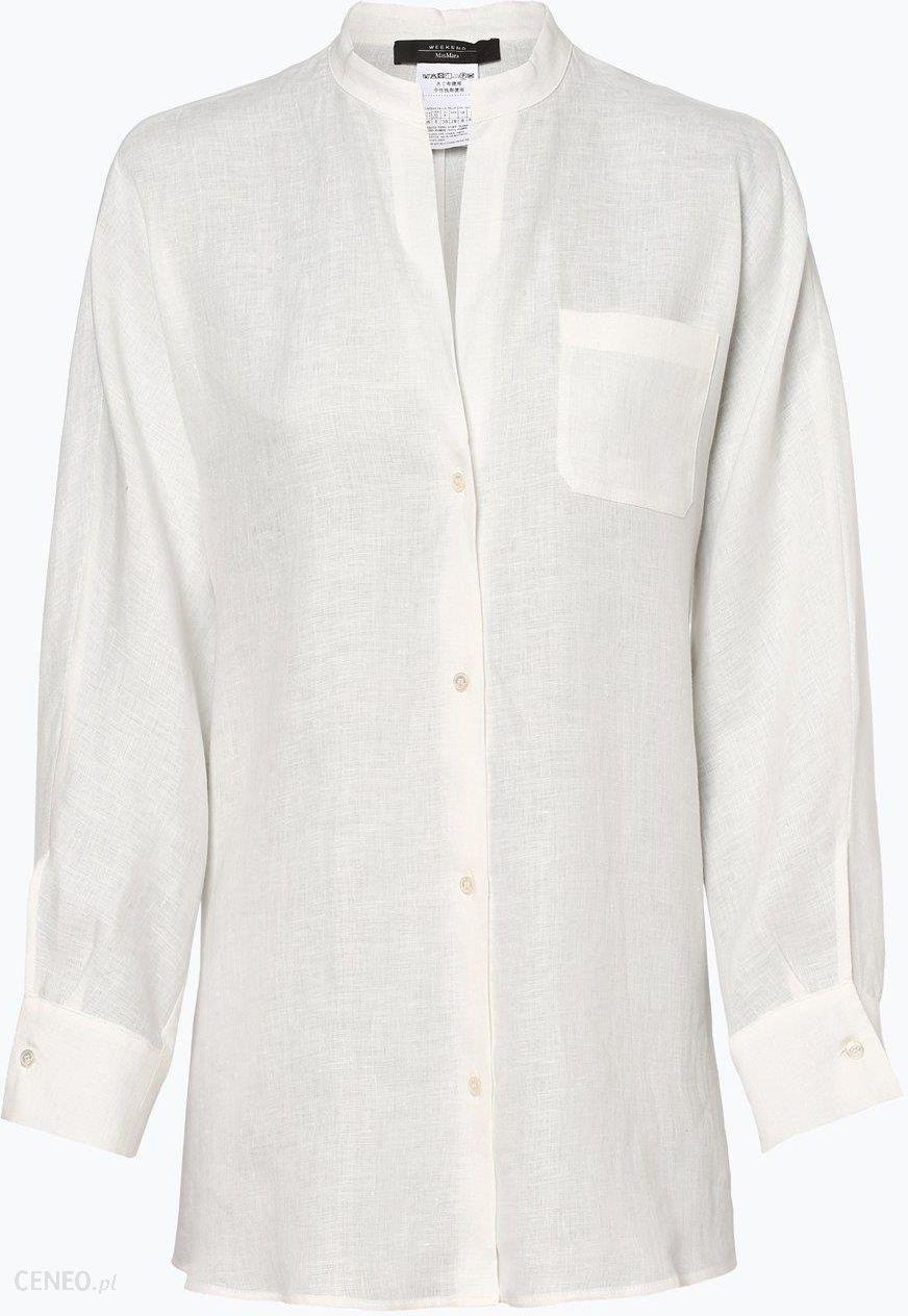 5838fd2e7a Weekend MaxMara Damska bluzka lniana beżowy - zdjęcie 1