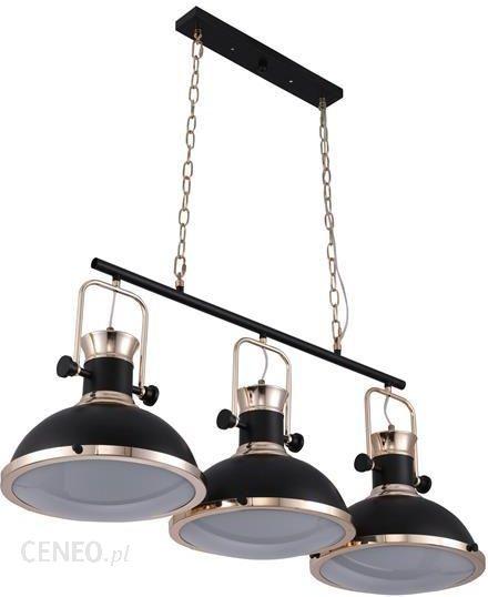potrójne czarne lampy do kuchni
