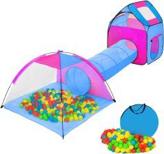 Tectake Namiot Dla Dzieci Z Tunelem 200 Piłek Oraz Torba Niebieski