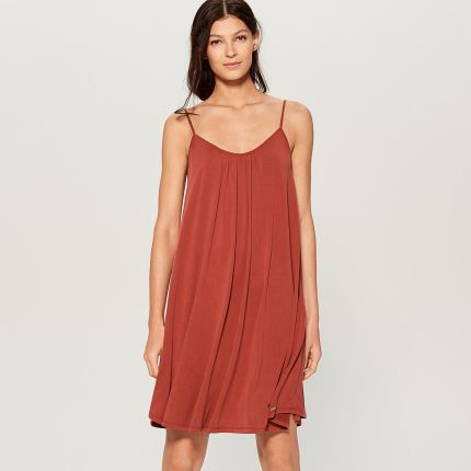 c23ab616a4 Mohito - Trapezowa sukienka na ramiączkach - Brązowy Mohito