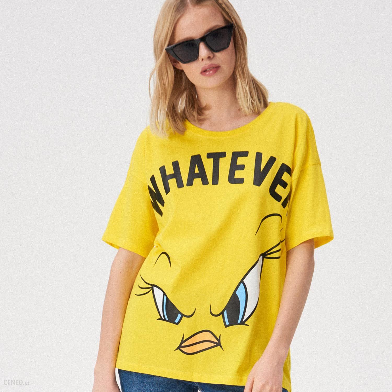26bc8b842 Sinsay - T-shirt oversize z nadrukiem Tweety - Żółty - Ceny i opinie ...