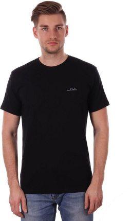 Czarny Gładki T-shirt Męski, KrÓtki Rękaw, Just Yuppi, 100% BAWEŁNA, Koszulka, z Logo TSJTYUP1339kolCZARNY - Ceny i opinie T-shirty i koszulki męskie YUGQ