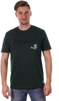 0fbe2d8ee Zielony T-shirt Męski z Nadrukiem, w Napisy, Krótki Rękaw, Just Yuppi. Koszulka  męskaZielony ...
