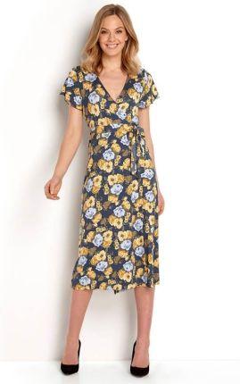 b321027bbc Happy Holly Sukienka Amanda long - zamglony niebieski we wzory cellbes