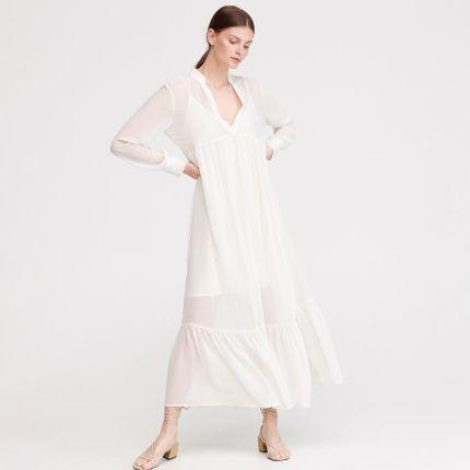 289898e0fc Reserved - Sukienka w stylu boho - Kremowy ...