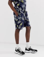 Fairplay Aal shorts with pineapple print in navy - Black - zdjęcie 1