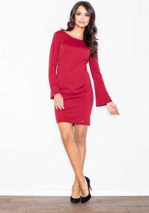 06a74fb4ed Podobne produkty do Figl Czarna Prosta Dzianinowa Sukienka z Długim Rękawem  z Paskiem z Eko-skóry