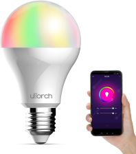 """Utorch BW - 5 E27 Voice Control Smart WiFi Colorful Light Bulb - 9W 900LM White"""