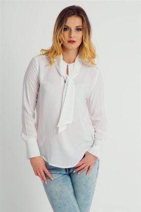 e9e2eadd0f Bluzka damska wiązana pod szyją elegancka biała Fresh Made - biel